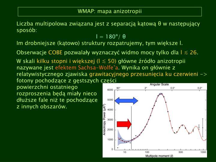 WMAP: mapa anizotropii