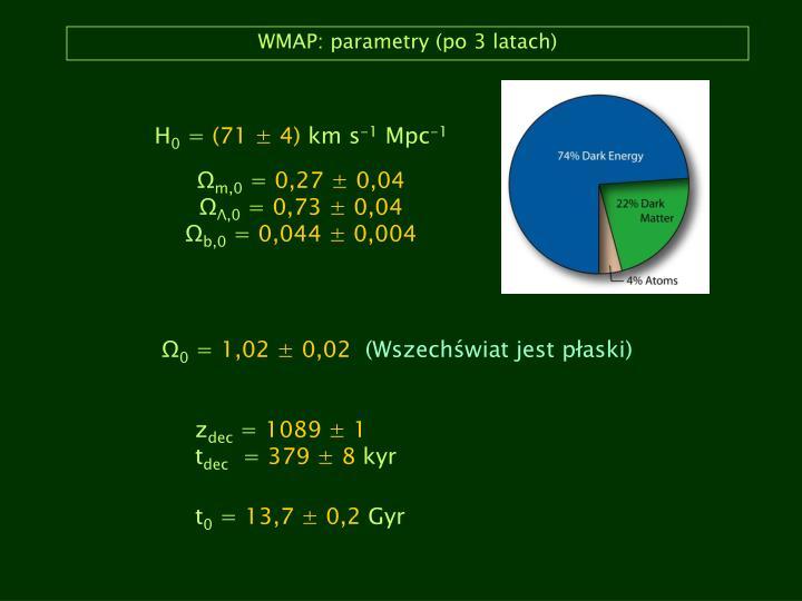 WMAP: parametry (po 3 latach)
