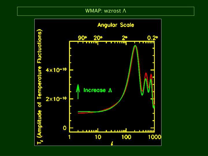 WMAP: wzrost