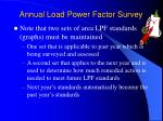 annual load power factor survey1