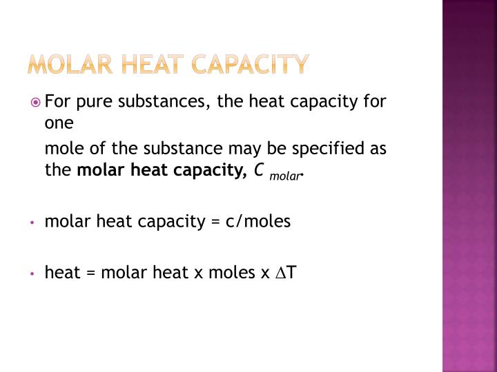 Molar Heat Capacity