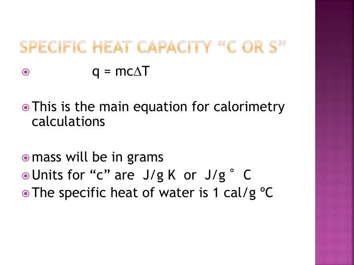 Specific Heat Capacity ""