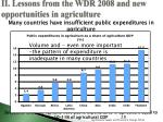 ii lessons from the wdr 2008 and new opportunities in agriculture