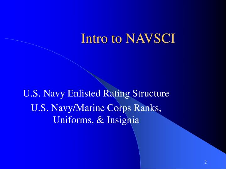intro to navsci n.