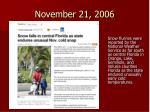 november 21 2006