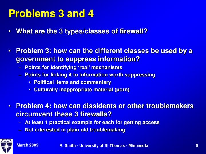Problems 3 and 4