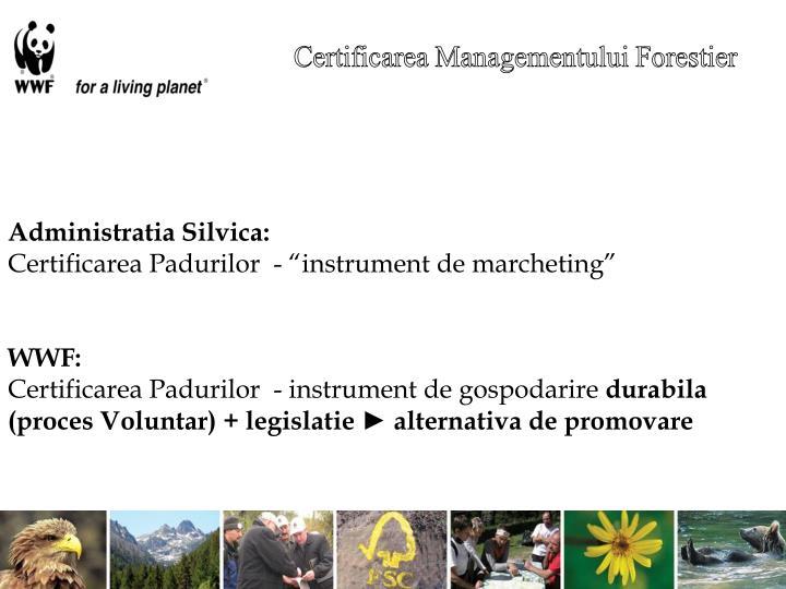 Certificarea Managementului Forestier