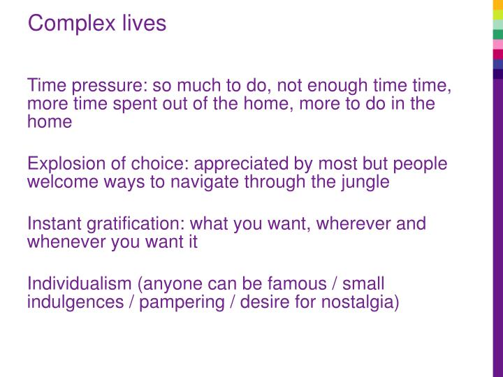 Complex lives