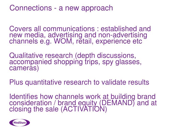 Connections - a new approach