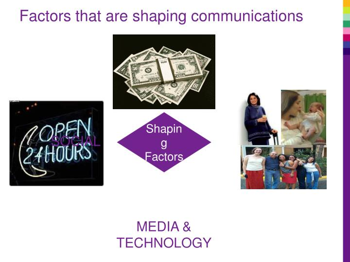 Factors that are shaping communications