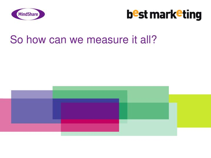 So how can we measure it all?