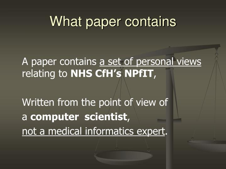 What paper contains