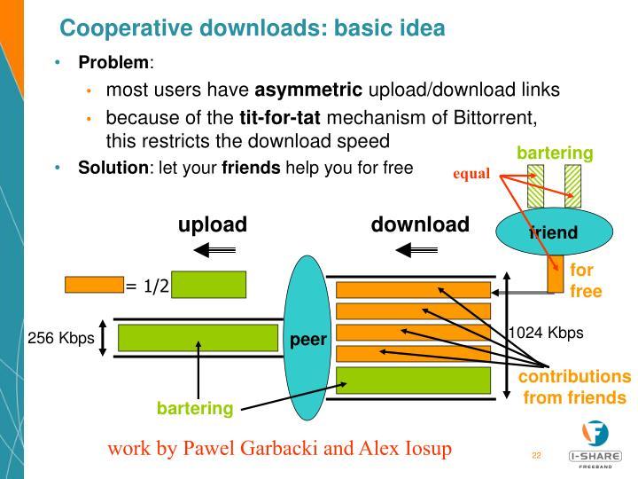 Cooperative downloads: basic idea