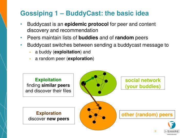 Gossiping 1 – BuddyCast: the basic idea