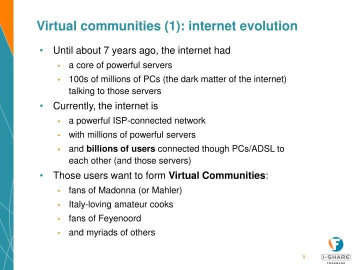 Virtual communities (1): internet evolution