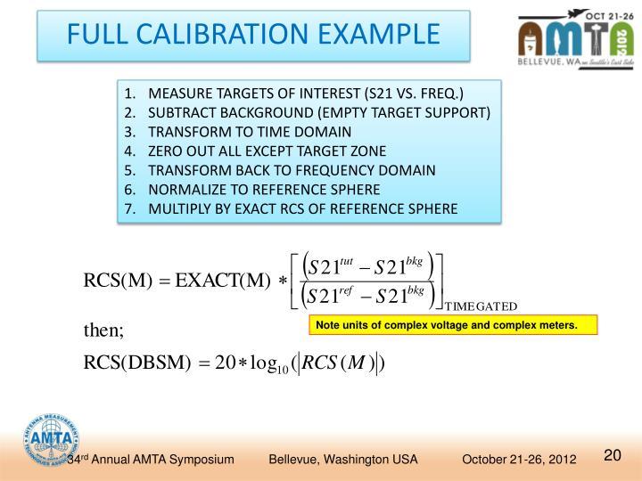 FULL CALIBRATION EXAMPLE