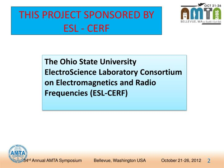 This project sponsored by esl cerf