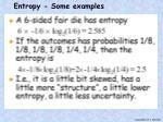 entropy some examples1