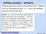 huffman encoding optimality3