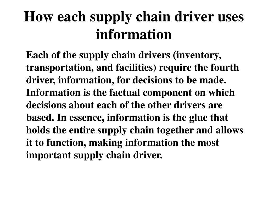 PPT - ROLE OF INFORMATION IN SUPPLY CHAIN MANAGEMENT Lt Gen (Retired