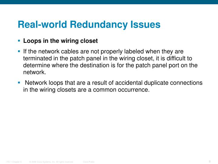 Real-world Redundancy Issues