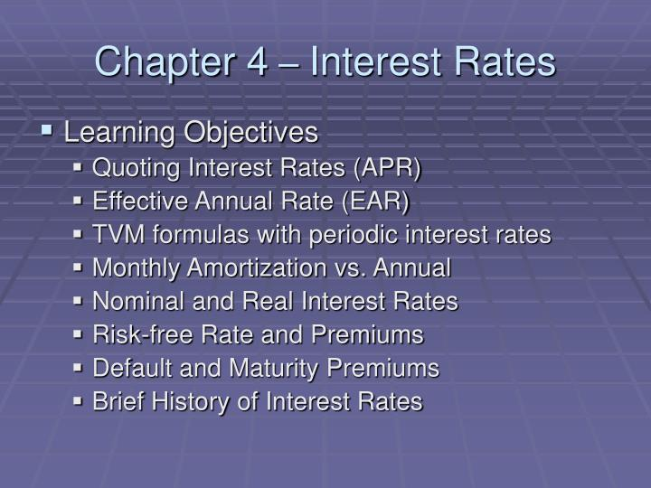 chapter 4 interest rates n.