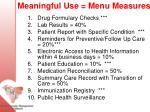 meaningful use menu measures