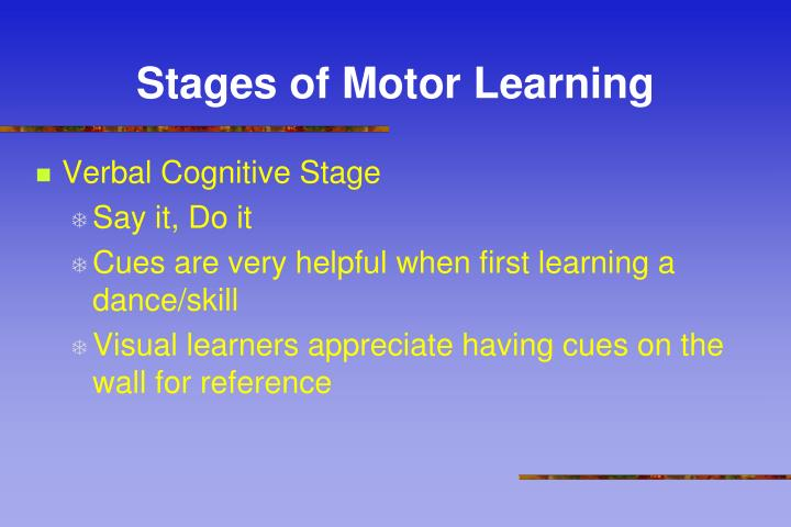 Stages of Motor Learning