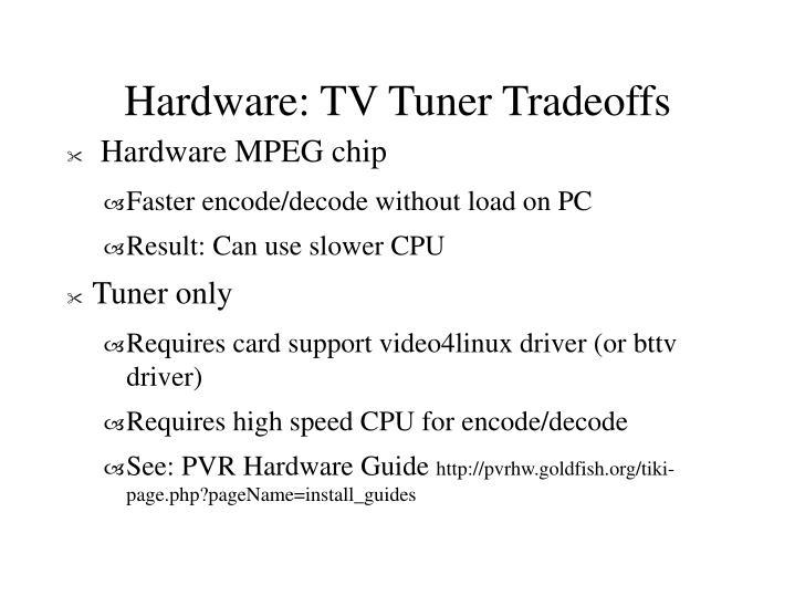 Hardware: TV Tuner Tradeoffs