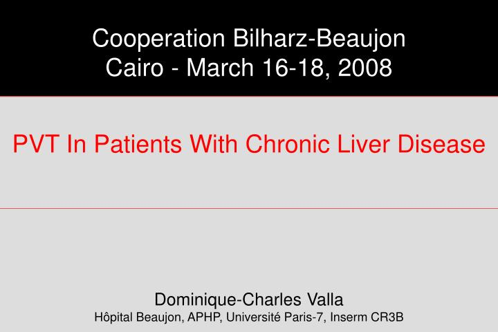 Pvt in patients with chronic liver disease