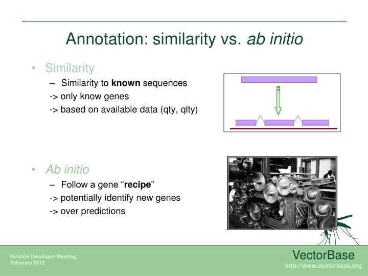 Annotation similarity vs ab initio