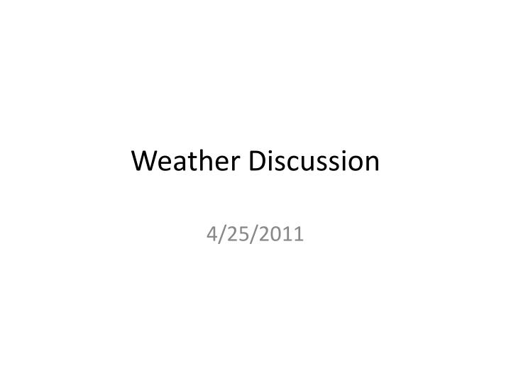 weather discussion n.