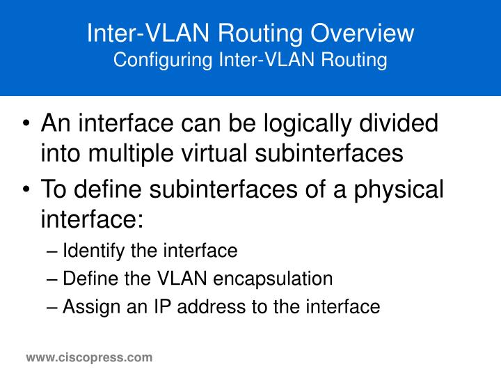 Inter-VLAN Routing Overview