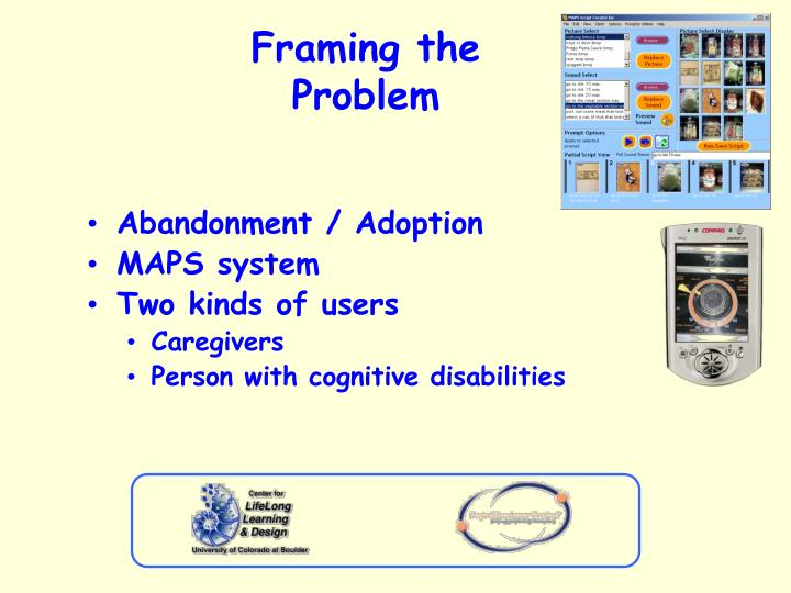 Framing the problem