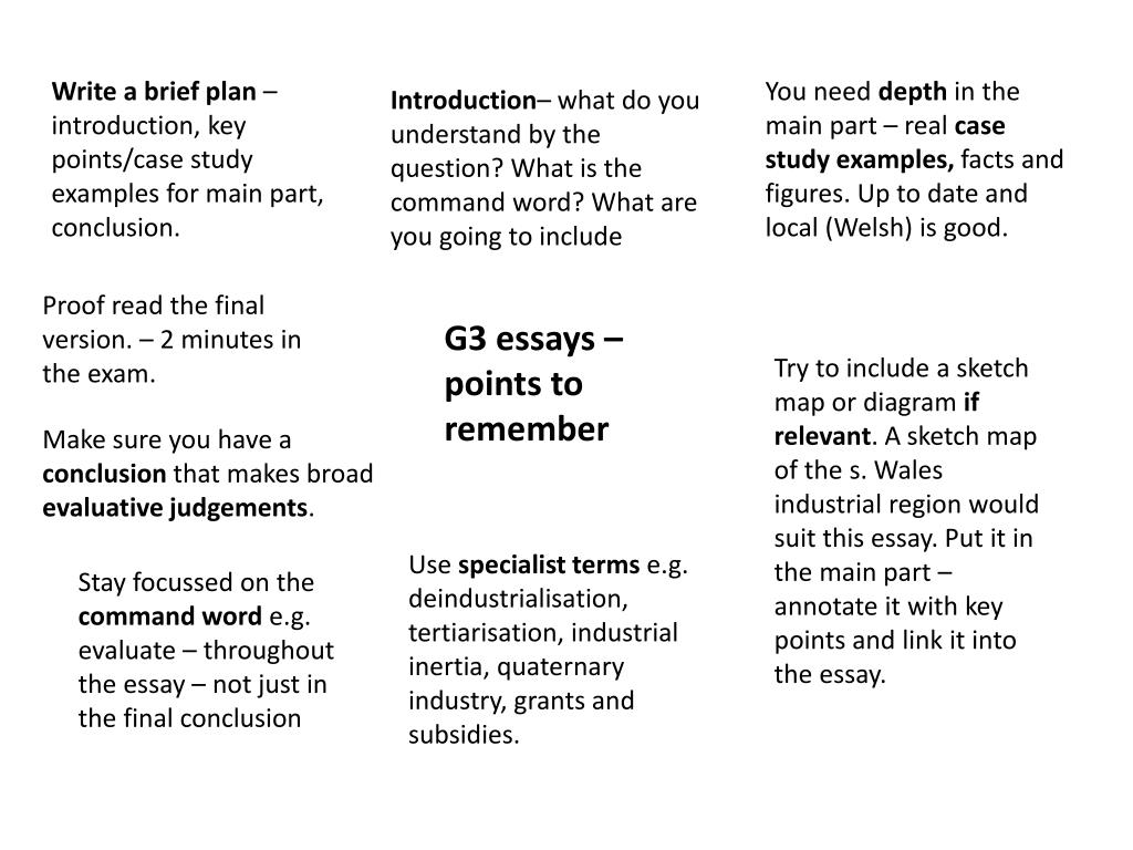 PPT - G3 essays – points to remember PowerPoint Presentation - ID