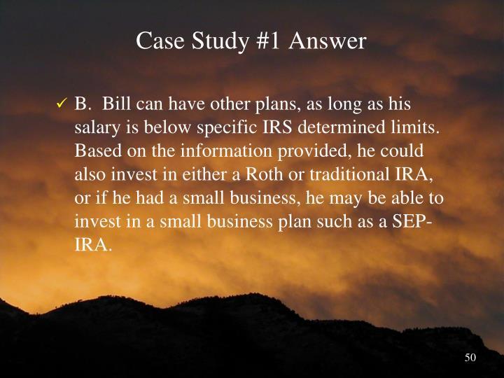 Case Study #1 Answer