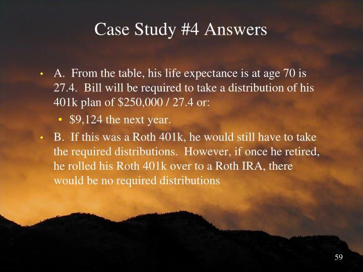 Case Study #4 Answers