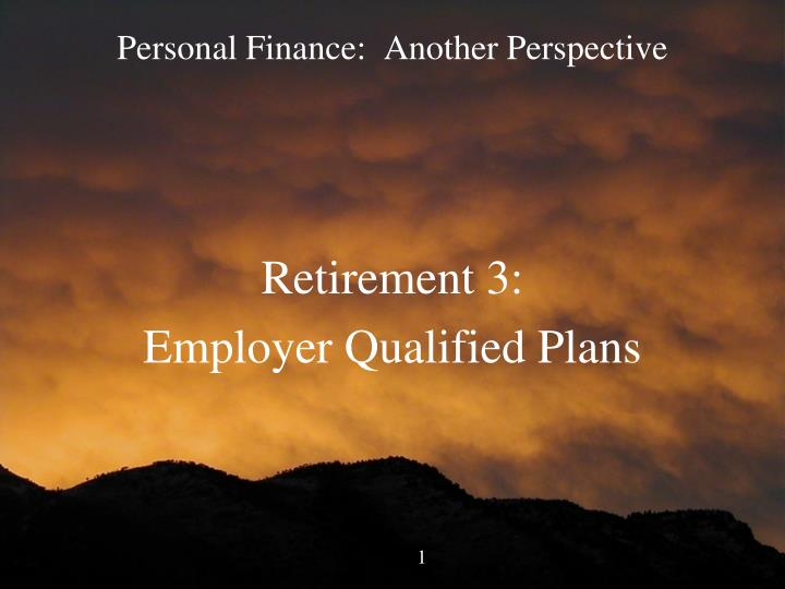Personal finance another perspective