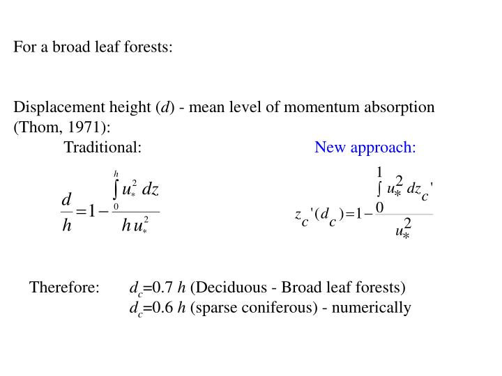 For a broad leaf forests:
