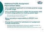 additional profile assignment improvement ideas