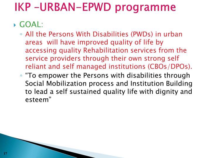 IKP –URBAN-EPWD programme