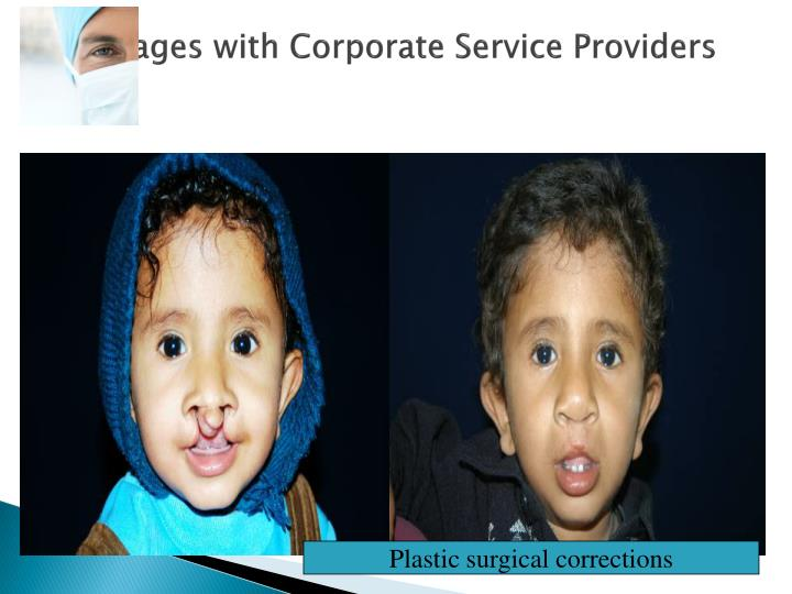 Linkages with Corporate Service Providers
