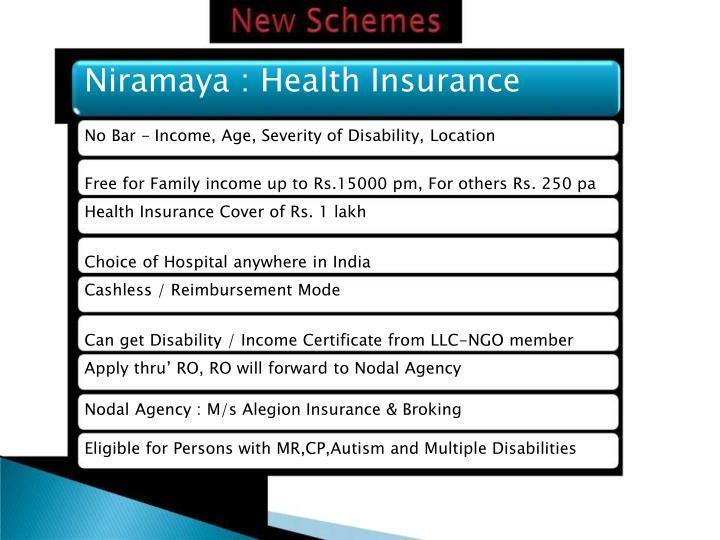 Niramaya : Health Insurance
