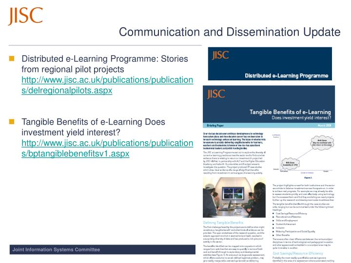 Distributed e-Learning Programme: Stories from regional pilot projects