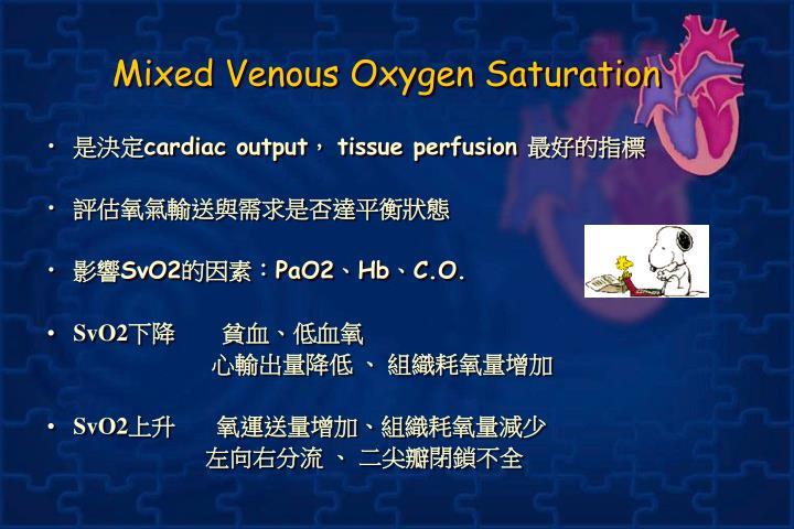 Mixed Venous Oxygen Saturation