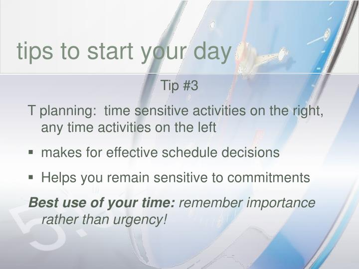 tips to start your day