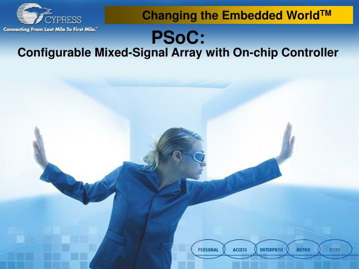 psoc configurable mixed signal array with on chip controller n.