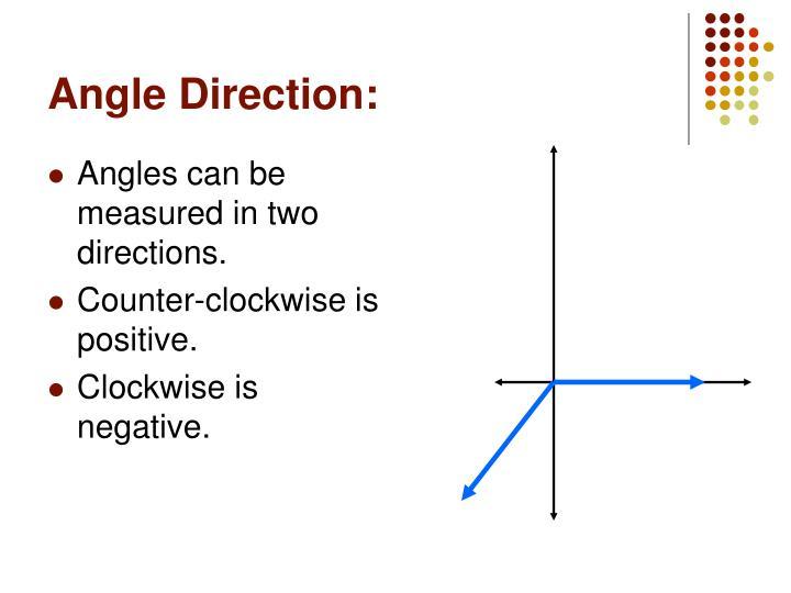 Angle Direction: