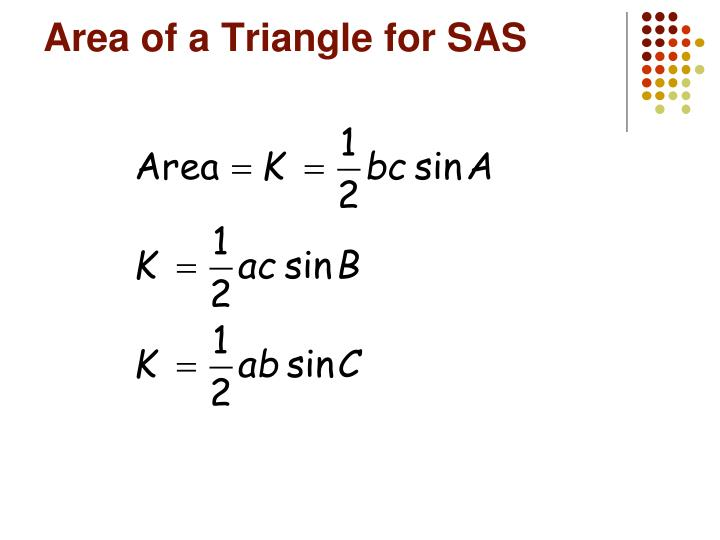 Area of a Triangle for SAS