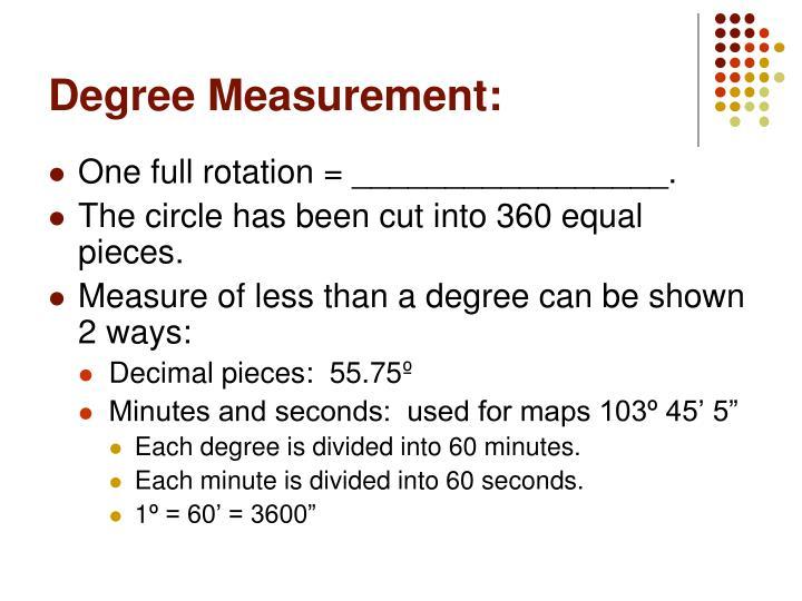 Degree Measurement: